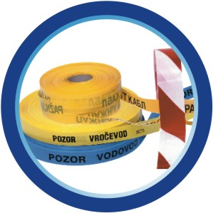 Warning, indicator warning tapes